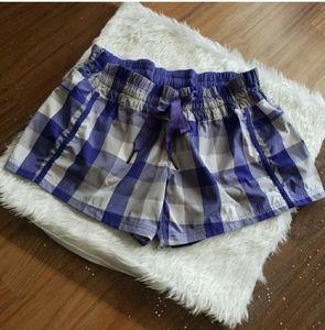 EUC Lululemon | Purple Gingham Shorts - 8